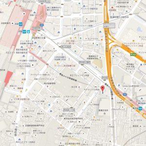 有限会社ウィリングまでの地図(2015年11月現在)